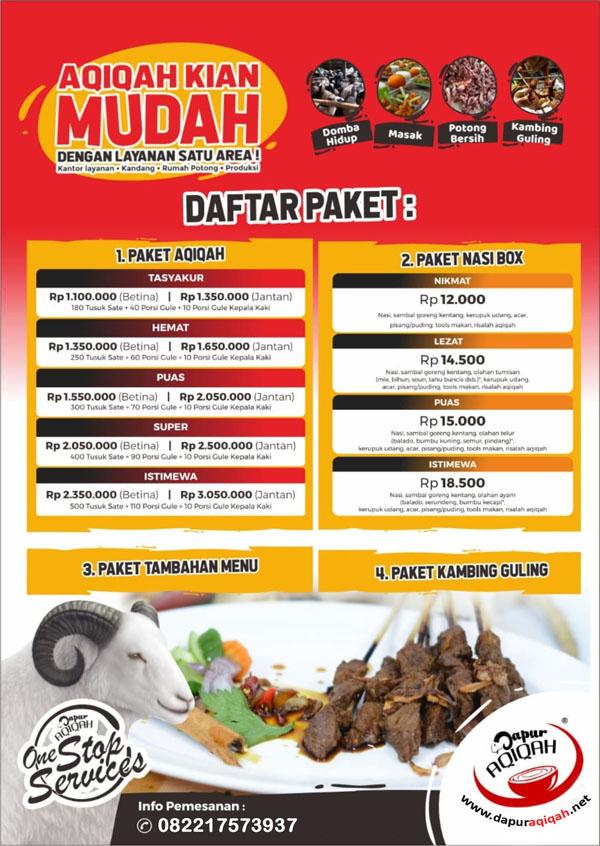 Jasa Aqiqah Setiabudi Bandung - Dapur Aqiqah