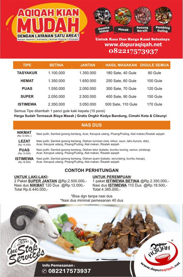 Aqiqah Bandung Selatan - Dapur Aqiqah